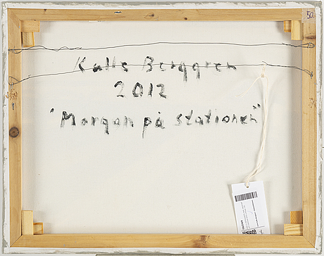 Kalle berggren, signed and dated 2012 on verso.