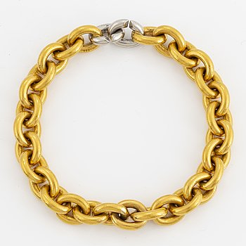 23K gold and platinum bracelet.
