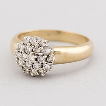 RING, briljantslipade diamanter, 14K guld.