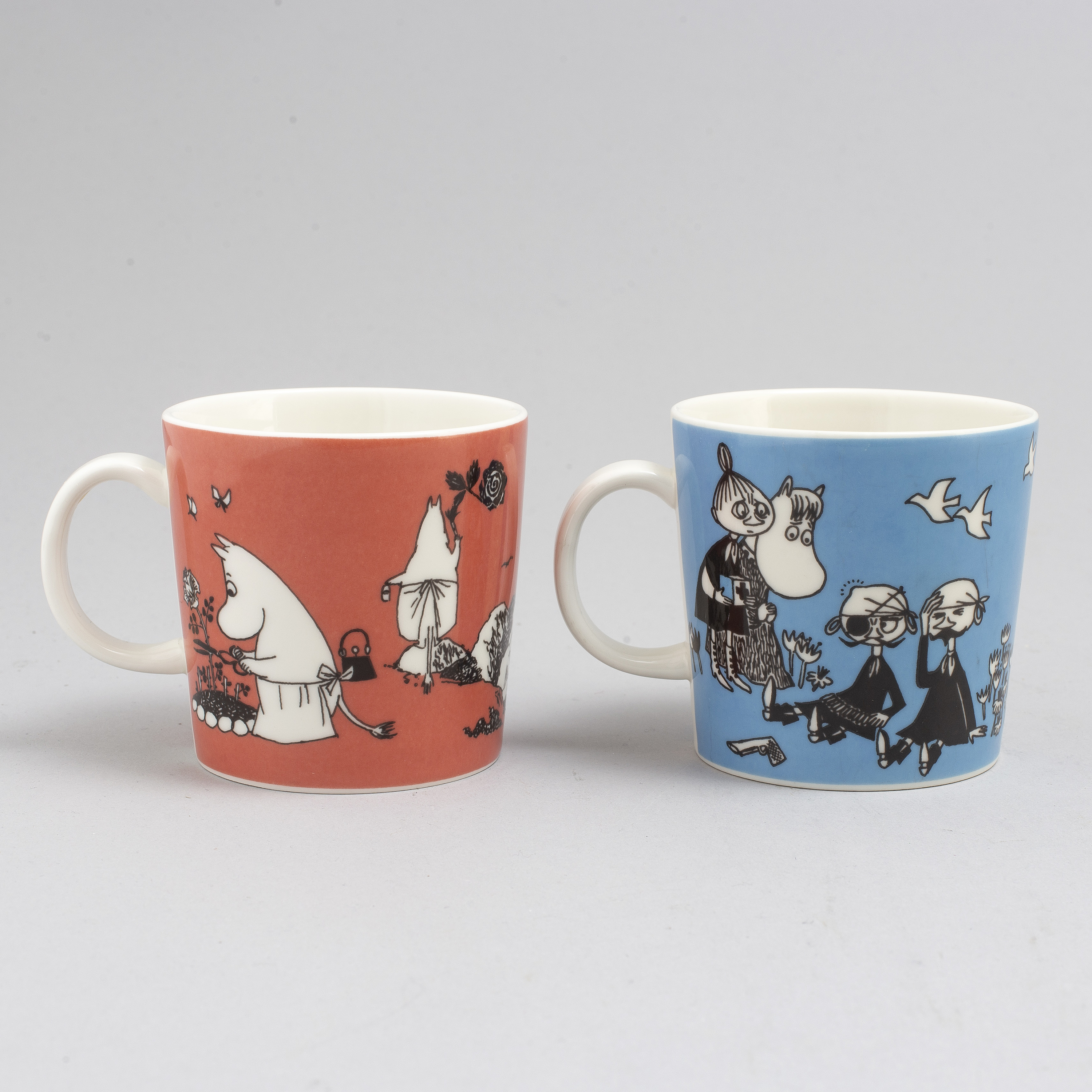 Two porcelain Moomin Characters mugs from Arabia, Finland