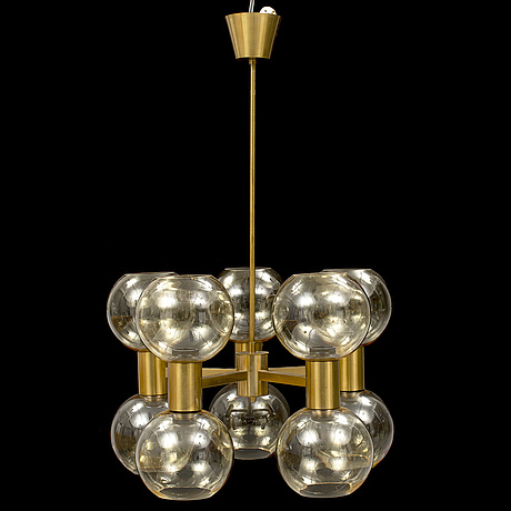 A brass chandelier, second half of the 20th century