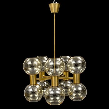 A brass chandelier, second half of the 20th Century.