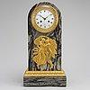 Bordspendyl, empire, frankrike, signerad feuchere & fossey fab. t de bronzes hedouin hr. tidigt 1800 tal