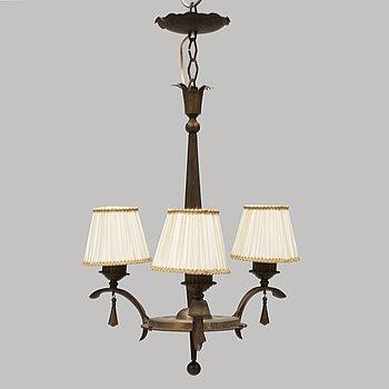 a 1920's-30's Art Déco ceiling lamp.