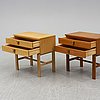 Two 1950/60s bedside tables from fröseke nybrofabriken.