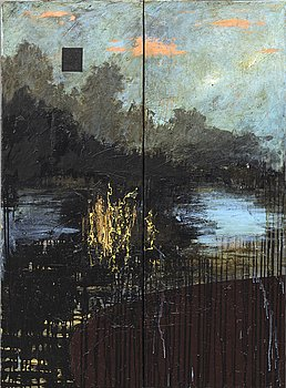 JOHAN PETTERSON, diptyk oil on canvas signed and dated 1993.