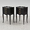 A pair of painted bedside tables, second half of the 20th century