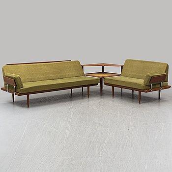 "PETER HVIDT & ORLA MØLGAARD NIELSEN, a sofa group of three parts, ""Minerva"", France & Daverkosen, Denmark."