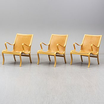 Three easy chairs from DUX, late 20th Century.