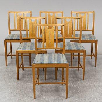 CARL MALMSTEN, six 'Ulfåsa' oak chairs from Bodafors.