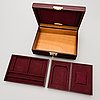 A rolex leather jewellery box, 1960's/70's.