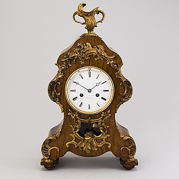 A French late 19th Century mantel clock, Divienne Lamy, St Quentin.