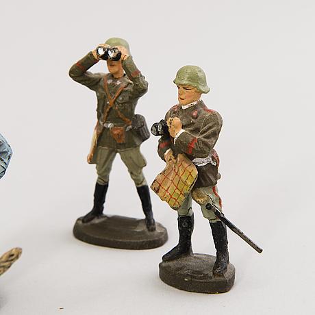 Elastolinsoldater, 19 st, tyskland 1930 tal