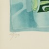 Bengt landin,lithograph in colours, signed bengt landin and numbered 48/190 in pencil.