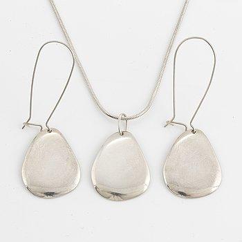 Earrings and pendant, by Efva Attling, sterlingsilver.