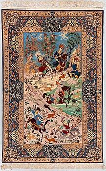MATTA, Old Isfahan, ca 210 x 142 cm (samt kortsidorna med 2 respektive 4,5 cm slätväv).