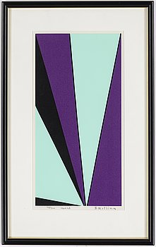 OLLE BAERTLING, silkscreen, signed and numbered.
