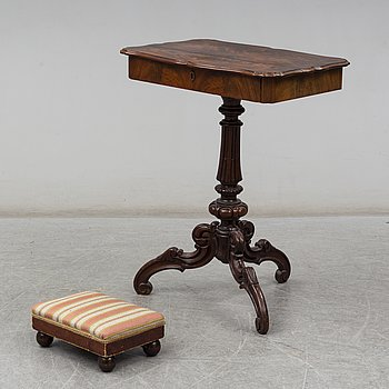 A Neo-Rococo 19th century sewing table.