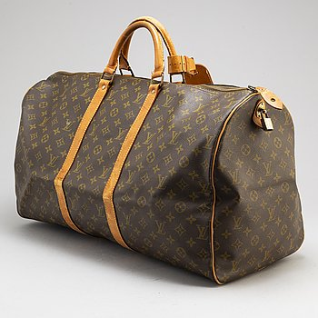 "LOUIS VUITTON, weekendbag, ""Keepall 55""."