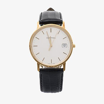 A 14k gold Certina quartz wristwatch. 2006.