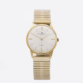 A BAUME & MERCIER, Geneve, 18k gold manual wristwatch. 1967.