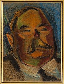 JOHN JON-AND, pastel, stamped signature.