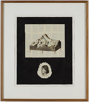 WILLEM ANDERSSON, collage, oil and ink on paper, signed and dated 2010.
