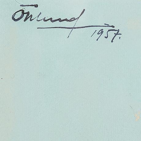 Bertil Öhlund, watercolor on paper, signed Öhlund and dated 1957.