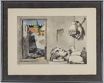 AXEL OLSON, färglitografier, 5 st, signerade och numrerade 114/260.