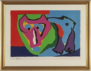KAREL APPEL, färglitografi, 1971, signerad med blyerts och numrerad EA.