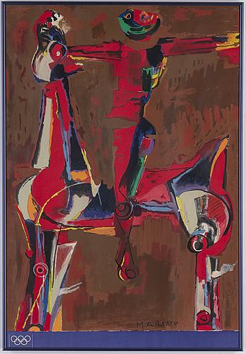 """Poster, 3, """"olympiska spelen münchen"""", 1972."""