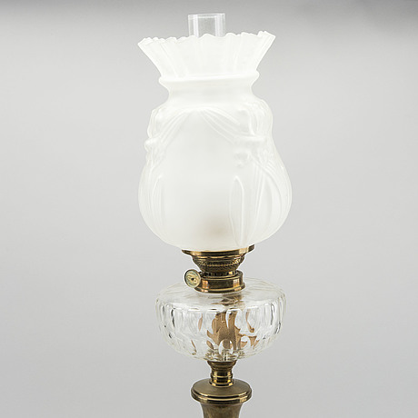 An early 20th century paraffin lamp