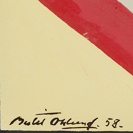 Bertil Öhlund, oil on canvas, signed and dated 58.