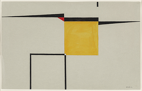 Bengt orup, gouache, signed and dated -53.
