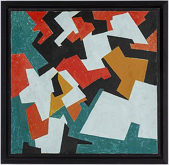 HARRY BOOSTRÖM, oil on panel, signed and dated -55 on verso.