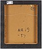 Harry boostrÖm, olja på pannå, signerad booström och daterad -54.