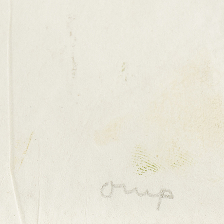 Bengt orup, monotype, signed.