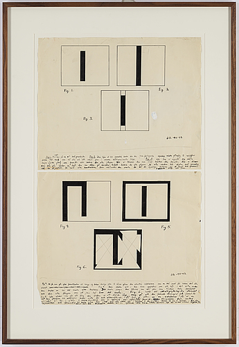 Olle bonniÉr, 2 framed together, indian ink, signed and dated -46-47.