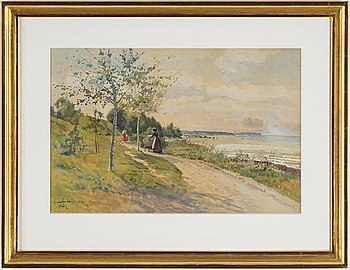 ANNA GARDELL-ERICSON, watercolour, signed, Visby.
