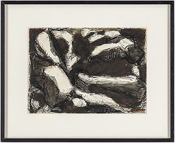 OLLE BONNIÉR, ink on paper, signed and dated 16.6-57.