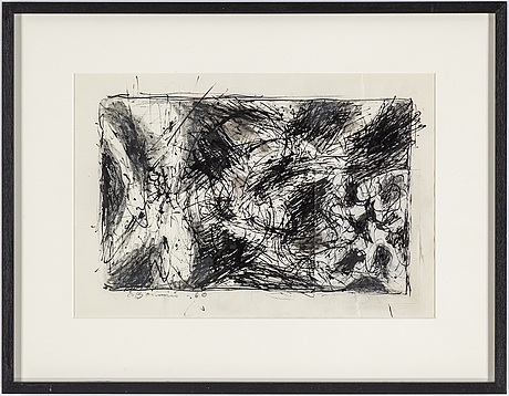 Olle bonniÉr, ink on paper, signed and dated -60.