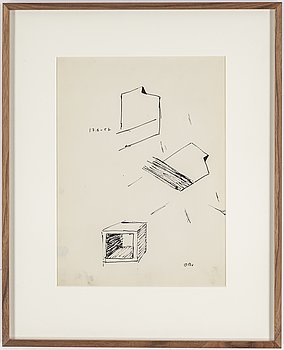 OLLE BONNIÉR, ink on paper, signed and dated 17.6-57.