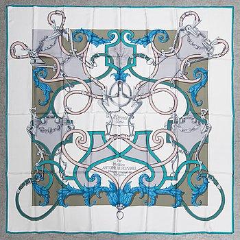 Hermès, scarf, siden, 140 x 140 cm.