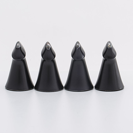 Four zoltan popovits chess figures, sterling silver. lapponia 1976 77
