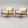 A pair of usa 75 easy chairs by folke ohlsson, dux