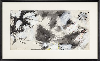 OLLE BONNIÉR, gouache on paper and dated -60-61.