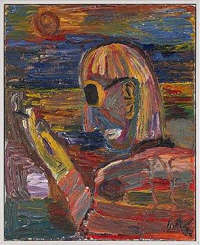 MAURITZ KARSTRÖM, olja på duk, signerad samt signerad och daterad 1998 a tergo.