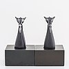 Two zoltan popovits chess figures, sterling silver. lapponia 1977 and 1979.