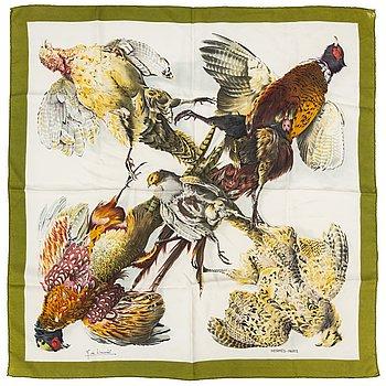 HERMÈS, a 'Belle Chasse' silk scarf.