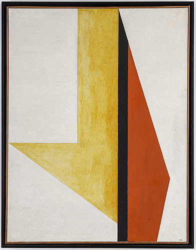 Bengt orup, oil on canvas, signed and dated 1955 on the stretcher.